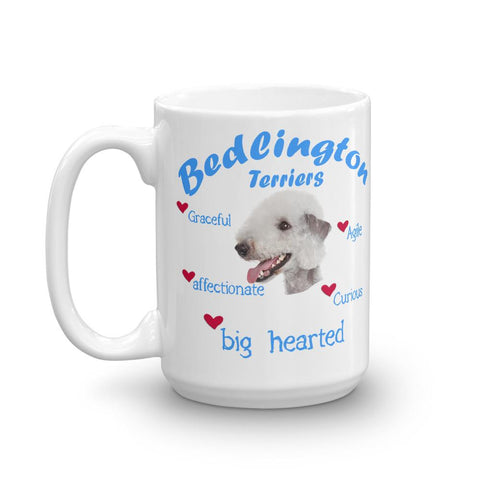 For Dogs Sake! 11oz Bedlington Terrier Blue Big Hearted & Affectionate Mug