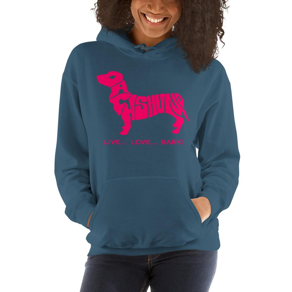 For Dogs Sake! Indigo Blue / S Dachshund Hoodie by For Dog's Sake!®