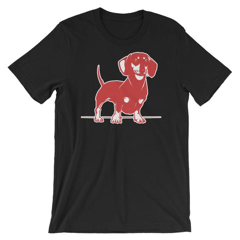 For Dogs Sake! Black / XS Mini Dachshund T-Shirt by  For Dog's Sake!®