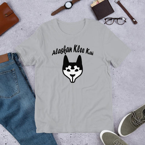 Image of For Dogs Sake! Silver / S Alaskan Klee Kai Short-Sleeve Unisex T-Shirt by For Dog's Sake!®
