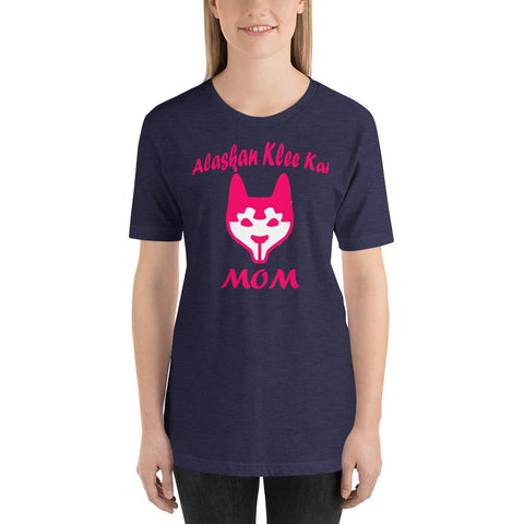 Image of For Dogs Sake! Heather Midnight Navy / XS Alaskan Klee Kai Mom Short-Sleeve T-Shirt by For Dog's Sake!®