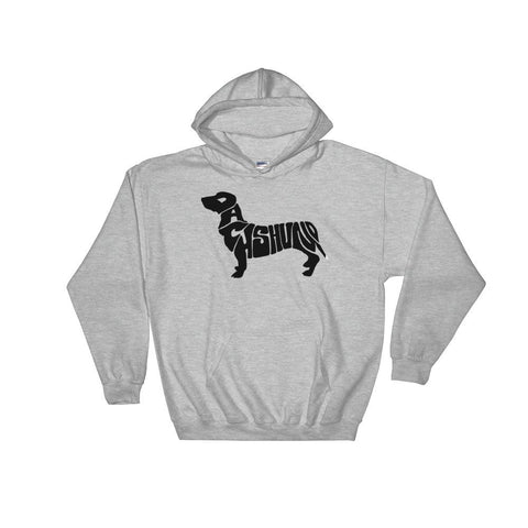 For Dogs Sake! Sport Grey / S Dachshund Hoodie by For Dog's Sake!®