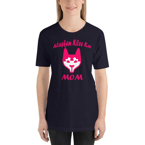 For Dogs Sake! Navy / XS Alaskan Klee Kai Mom Short-Sleeve T-Shirt by For Dog's Sake!®
