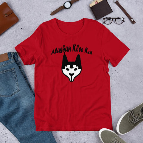 Image of For Dogs Sake! Red / S Alaskan Klee Kai Short-Sleeve Unisex T-Shirt by For Dog's Sake!®
