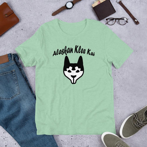 Image of For Dogs Sake! Heather Prism Mint / XS Alaskan Klee Kai Short-Sleeve Unisex T-Shirt by For Dog's Sake!®
