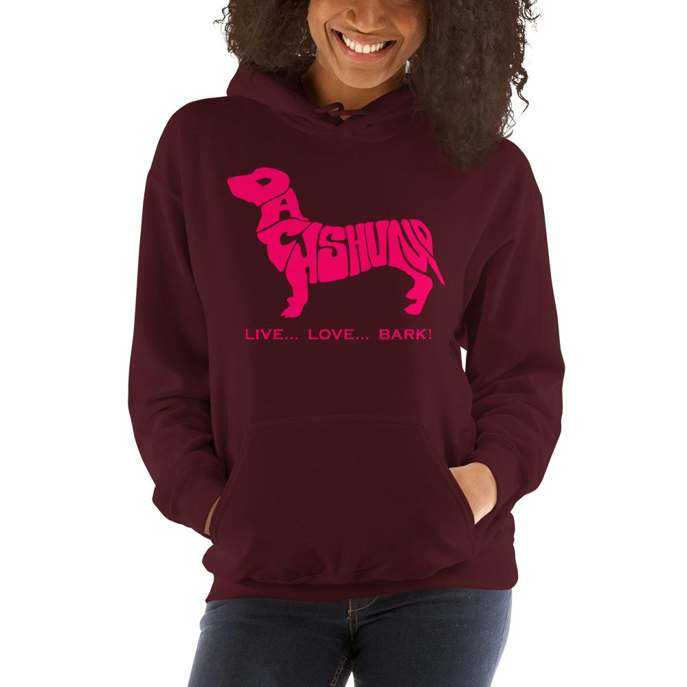 For Dogs Sake! Maroon / S Dachshund Hoodie by For Dog's Sake!®