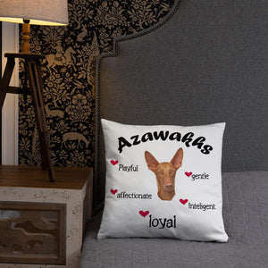 Azawakh Black Playful & Loyal Throw Pillow