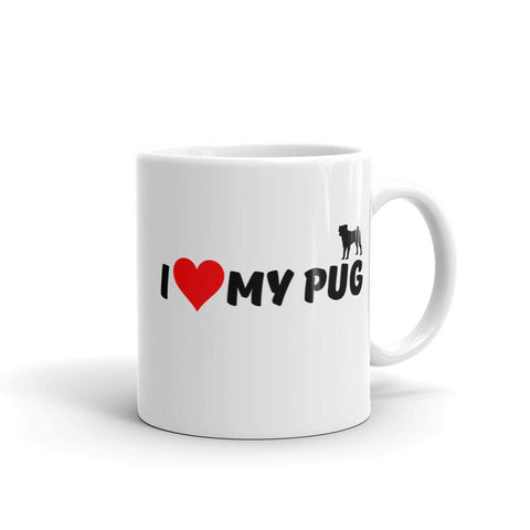 For Dogs Sake! 11oz I Love my Pug Mug by For Dog's Sake!®