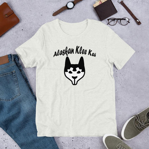 Image of For Dogs Sake! Ash / S Alaskan Klee Kai Short-Sleeve Unisex T-Shirt by For Dog's Sake!®