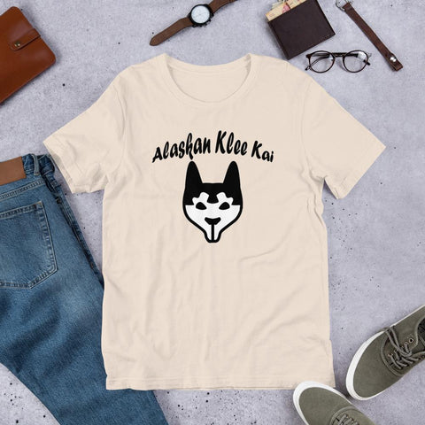 Image of For Dogs Sake! Soft Cream / S Alaskan Klee Kai Short-Sleeve Unisex T-Shirt by For Dog's Sake!®