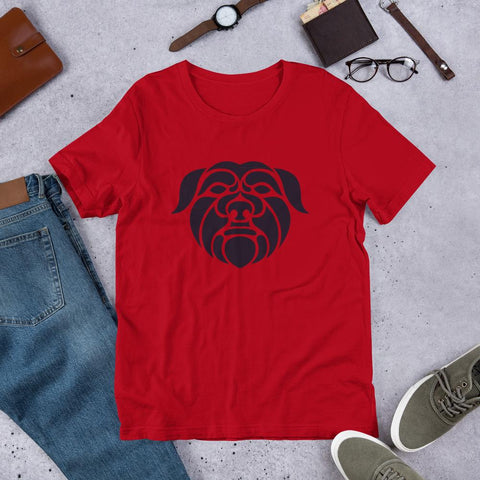 Image of For Dogs Sake! Red / S Affenpinscher Short-Sleeve Unisex T-Shirt