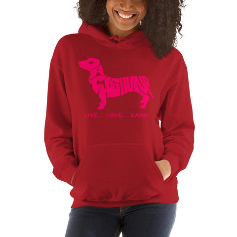 Image of For Dogs Sake! Red / S Dachshund Hoodie by For Dog's Sake!®