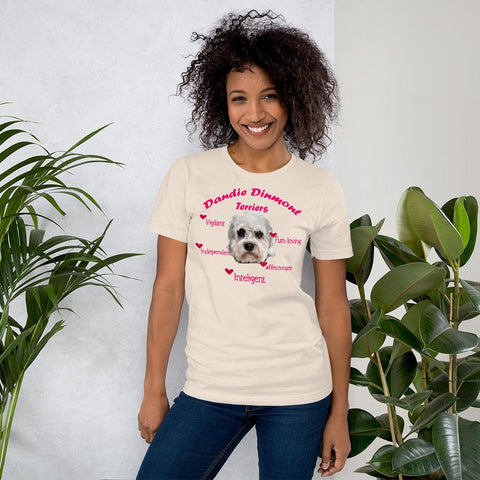 Image of For Dogs Sake! Soft Cream / S Dandie Dinmont Terrier Fun-Loving & Intelligent T-Shirt