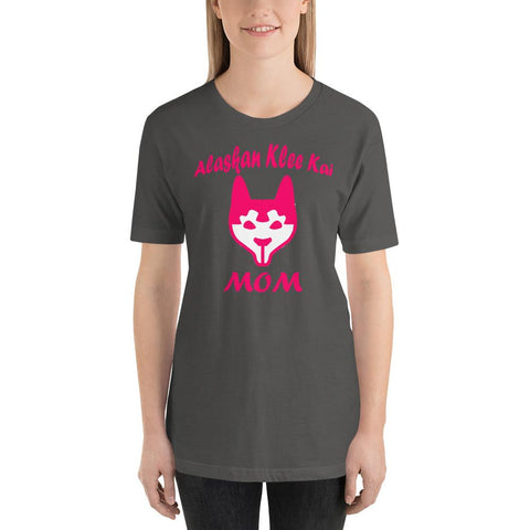 Image of For Dogs Sake! Asphalt / S Alaskan Klee Kai Mom Short-Sleeve T-Shirt by For Dog's Sake!®