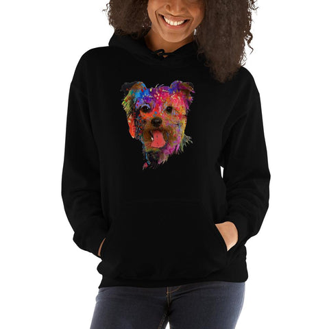 For Dogs Sake! White / S Yorkshire Terrier Psychedelic Hoodie by For Dog's Sake!®