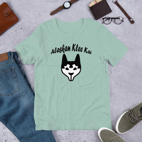 For Dogs Sake! Heather Prism Dusty Blue / XS Alaskan Klee Kai Short-Sleeve Unisex T-Shirt by For Dog's Sake!®