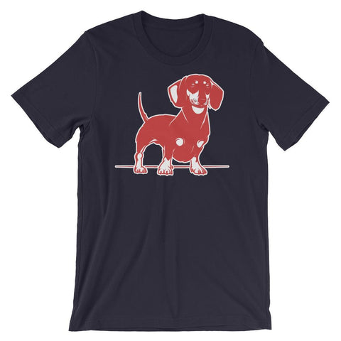 Image of For Dogs Sake! Navy / XS Mini Dachshund T-Shirt by  For Dog's Sake!®