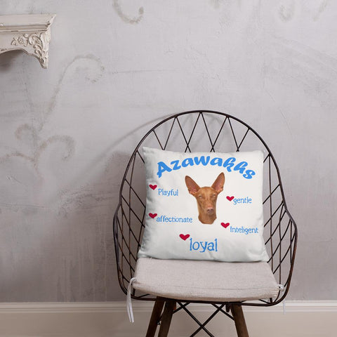 For Dogs Sake! Azawakh Blue Playful & Loyal Throw Pillow