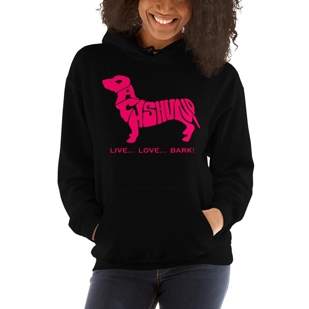 For Dogs Sake! Black / S Dachshund Hoodie by For Dog's Sake!®