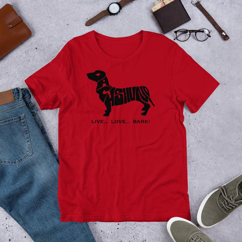 Image of For Dogs Sake! Red / S Dachshund Short-Sleeve T-Shirt by For Dog's Sake!®