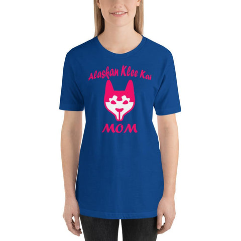 Image of For Dogs Sake! True Royal / S Alaskan Klee Kai Mom Short-Sleeve T-Shirt by For Dog's Sake!®