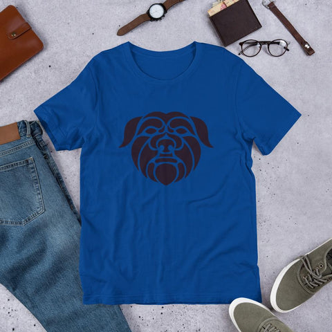 Image of For Dogs Sake! True Royal / S Affenpinscher Short-Sleeve Unisex T-Shirt