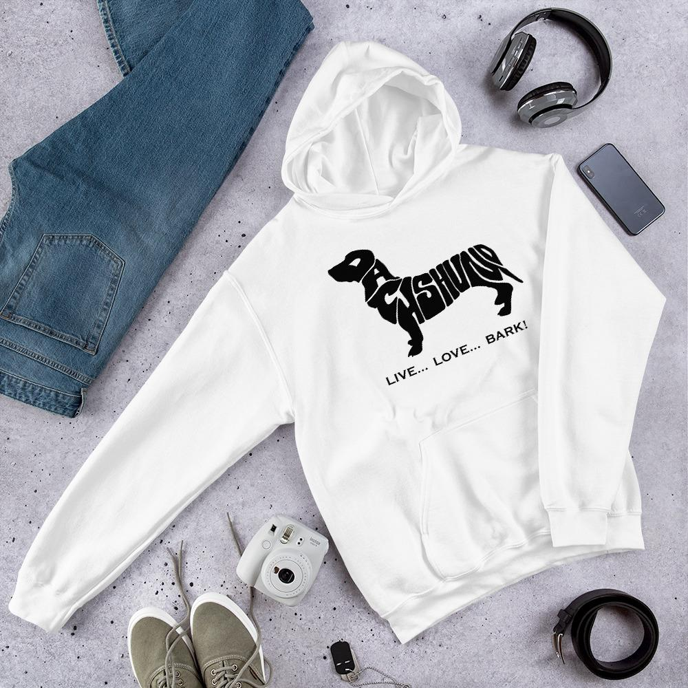 For Dogs Sake! White / S Dachshund Hoodie by For Dog's Sake!®