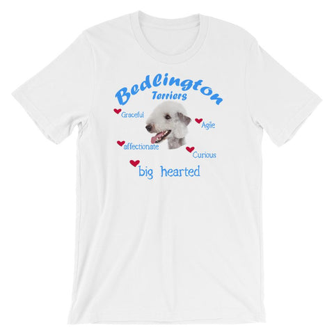 For Dogs Sake! White / XS Bedlington Terrier Blue Big Hearted & Affectionate T-Shirt