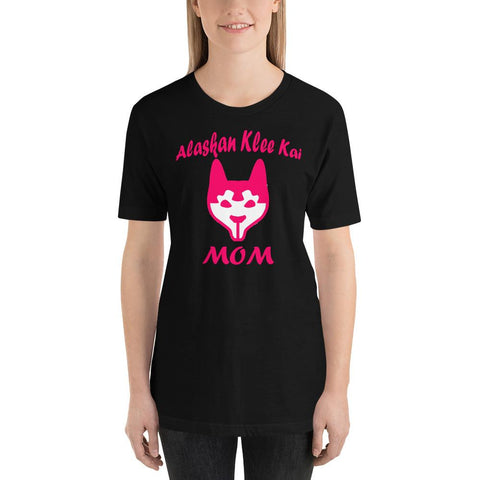 Image of For Dogs Sake! Black / XS Alaskan Klee Kai Mom Short-Sleeve T-Shirt by For Dog's Sake!®