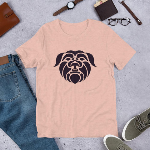 Image of For Dogs Sake! Heather Prism Peach / XS Affenpinscher Short-Sleeve Unisex T-Shirt