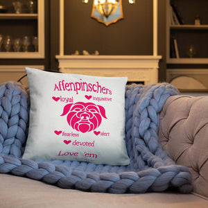 Affenpinscher Strong & Loyal Throw Pillow