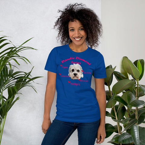 Image of For Dogs Sake! True Royal / S Dandie Dinmont Terrier Fun-Loving & Intelligent T-Shirt