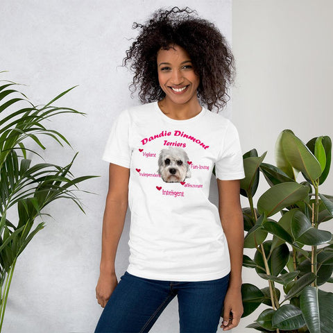 Image of For Dogs Sake! White / XS Dandie Dinmont Terrier Fun-Loving & Intelligent T-Shirt