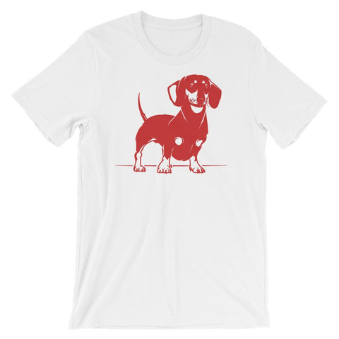 For Dogs Sake! White / XS Mini Dachshund T-Shirt by  For Dog's Sake!®
