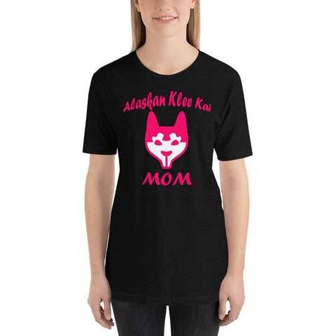 Image of For Dogs Sake! Black Heather / XS Alaskan Klee Kai Mom Short-Sleeve T-Shirt by For Dog's Sake!®