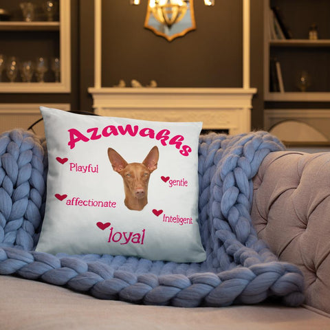 For Dogs Sake! Azawakh Pink Playful & Loyal Throw Pillow