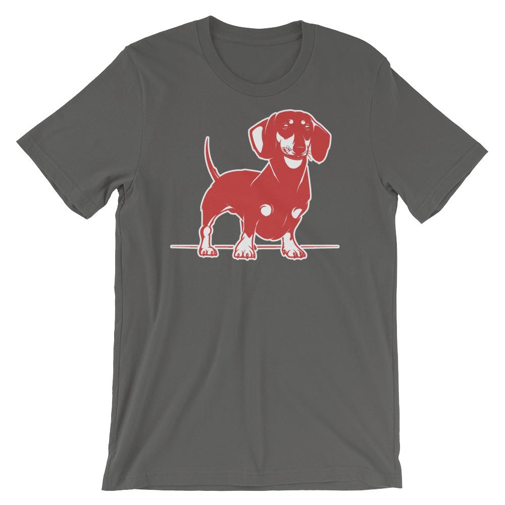 For Dogs Sake! Asphalt / S Mini Dachshund T-Shirt by  For Dog's Sake!®