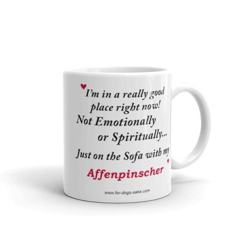 For Dogs Sake! 11oz Affenpinscher Mug by For Dog's Sake!®