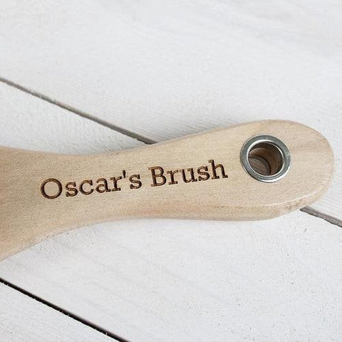 Moonshine Pets Default Title Personalised Wooden Dog Brush
