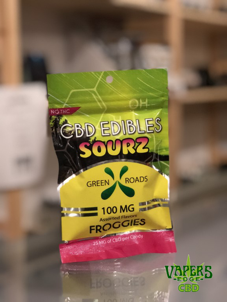 CBD Sourz Froggies Gummy Candy by Green Roads