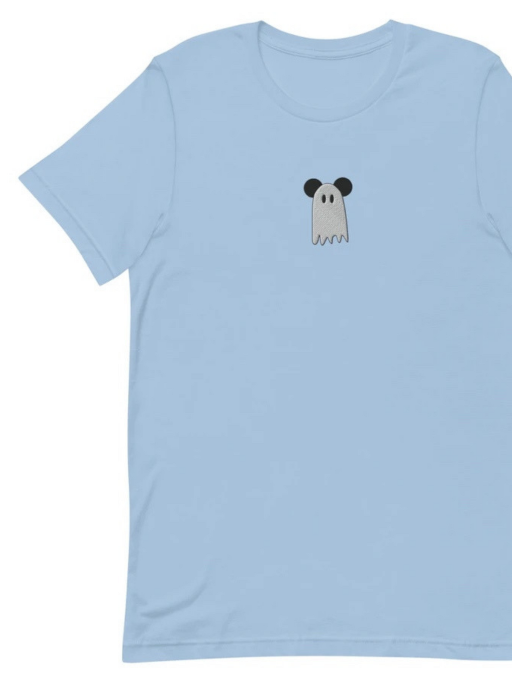 Mickey Ghost Embroidered Short-Sleeve Unisex T-Shirt