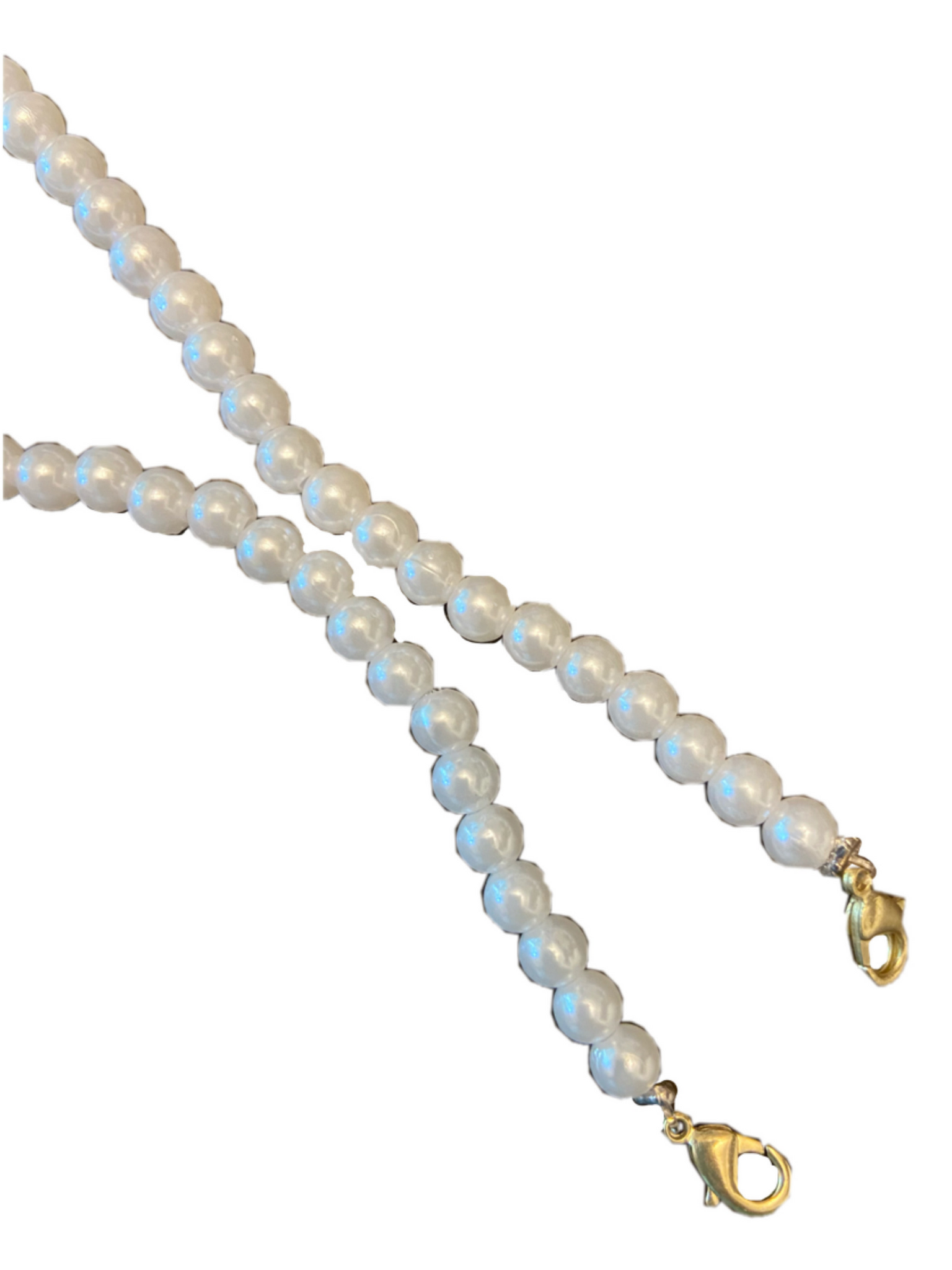 The Cinderella All White Pearl Mask Chain