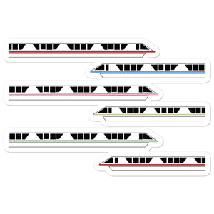 Monorail Bubble-free stickers