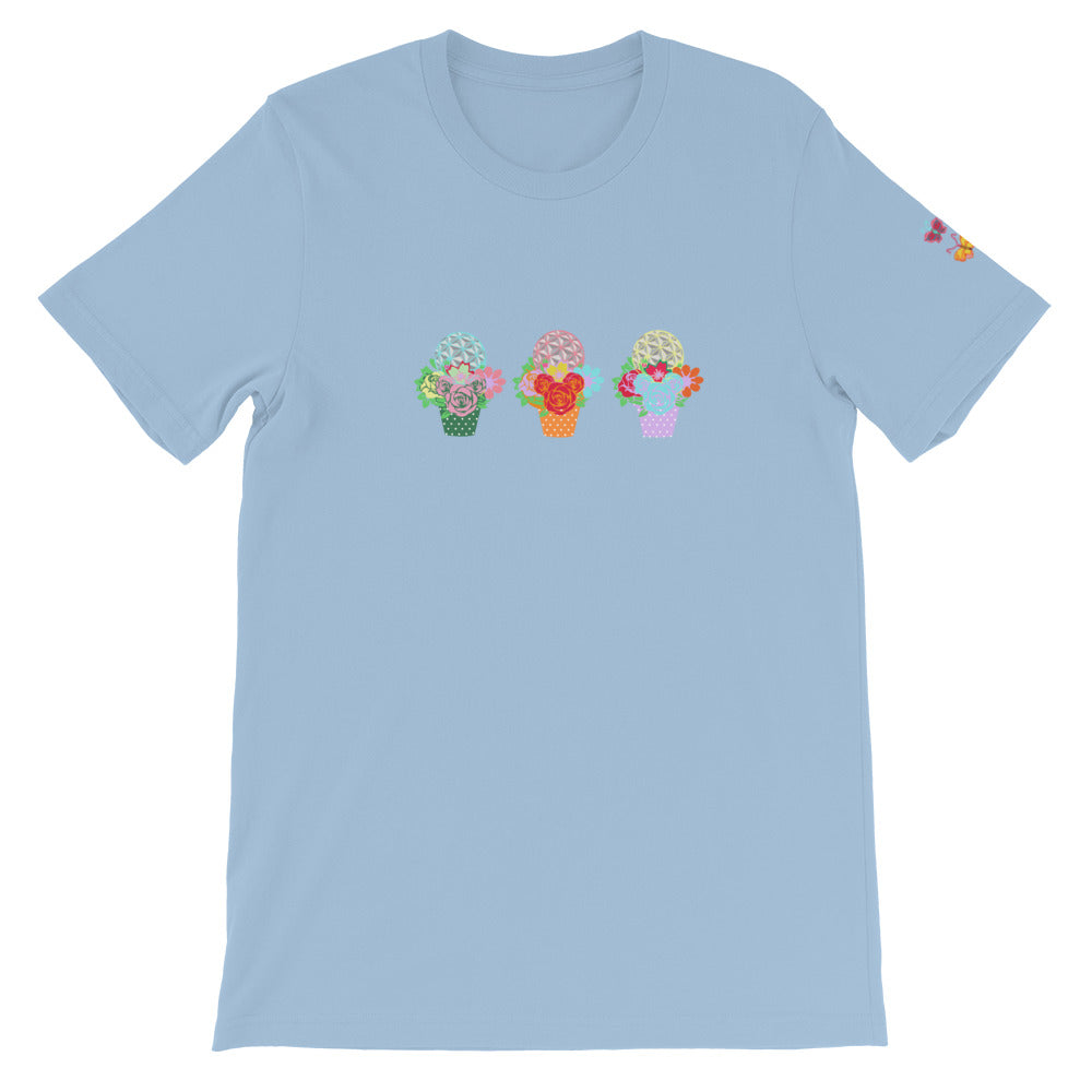 Flower And Garden Flower Pot Design Short-Sleeve Unisex T-Shirt