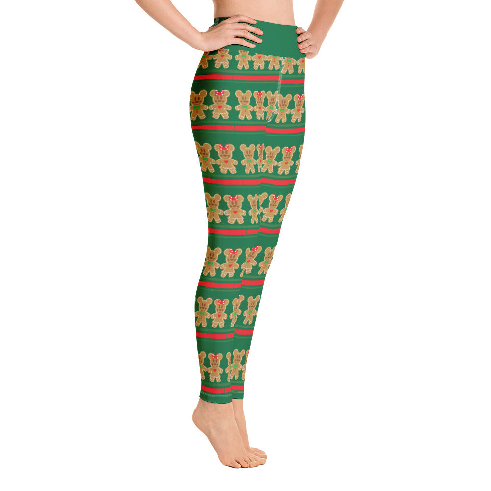 Mickey Gingerbread Yoga Leggings