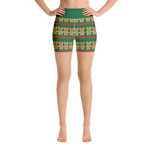 Mickey Gingerbread Yoga Shorts