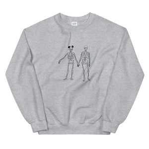 Skeleton Couple at the Kingdom Unisex Sweatshirt