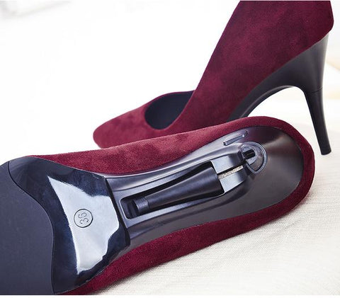 1727d3e5746 ... Convertible High Heel Shoes (Wine Red)