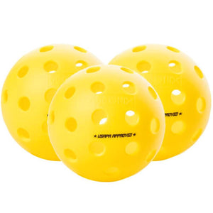 Onix Fuse Outdoor 3 Pack Pickleballs - Yellow
