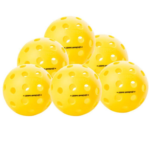 Onix Fuse Outdoor 6 Pack Pickleballs - Yellow